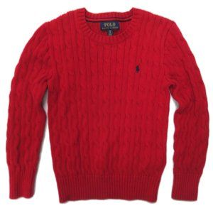Polo Ralph Lauren Cable Knit Sweater Youth Small 8